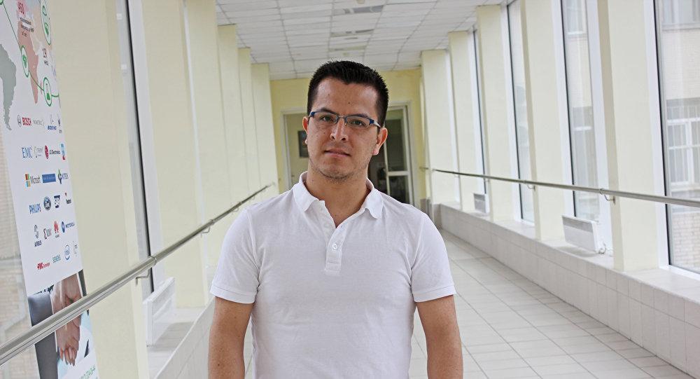 Joselito Murillo Pérez, estudiante de maestría de la SPbPU