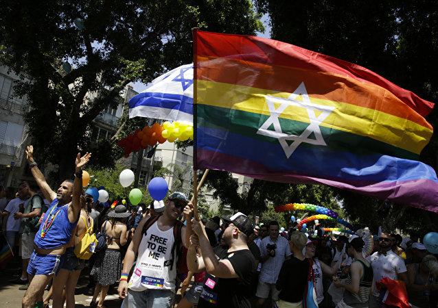 El Desfile del Orgullo Gay en Tel Aviv, Israel