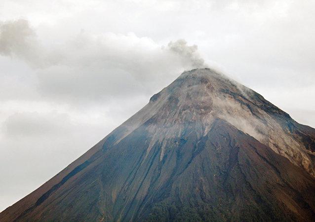 El volcán de Fuego en Guatemala