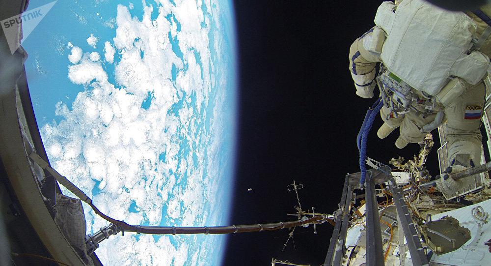 Cosmonautas de Rusia (archivo)