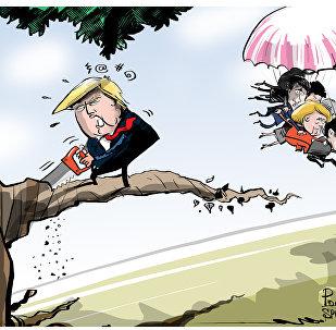 Macron le promete a Trump que el G7 se va a convertir en G6 si no se porta bien