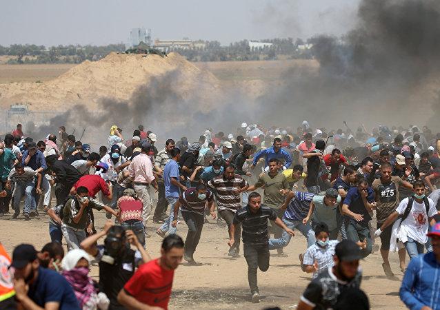 Protestas en la frontera entre Israel y la Franja de Gaza