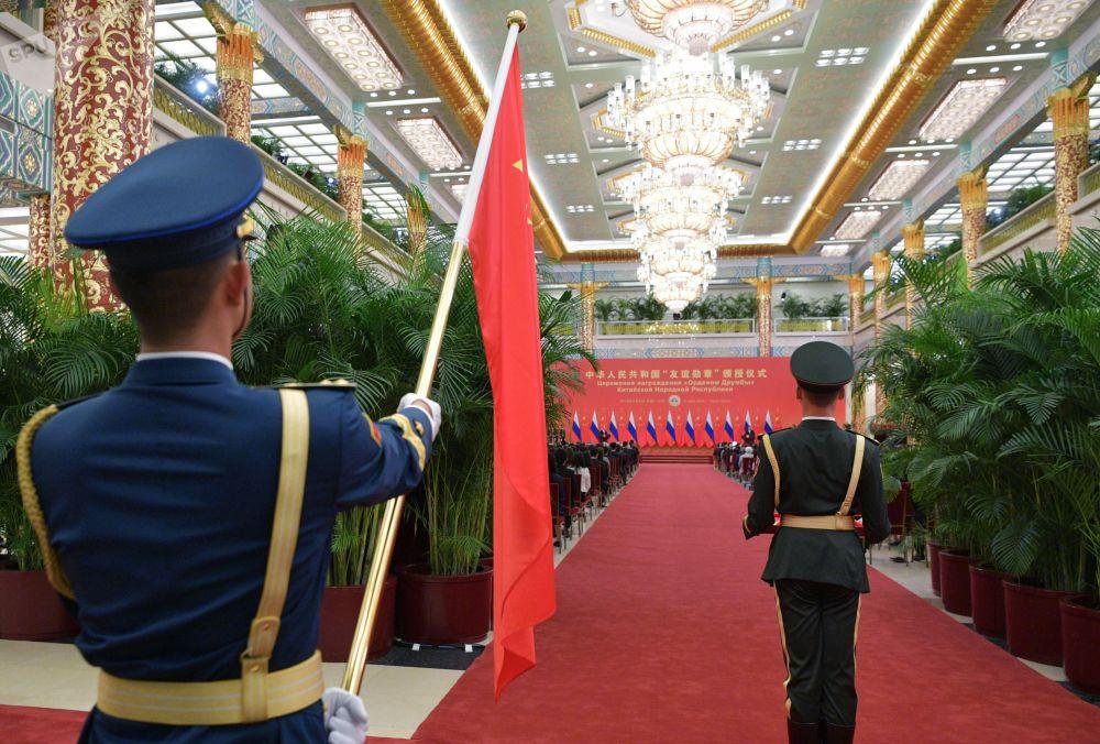 Reuniones oficiales y otras más distendidas de Vladímir Putin en China