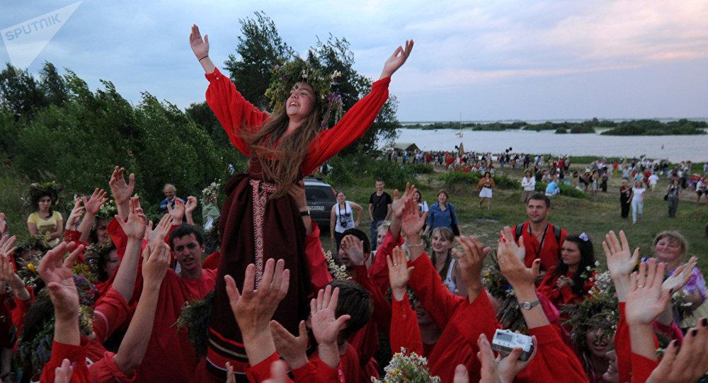 La fiesta de Iván Kupala, o solsticio de verano