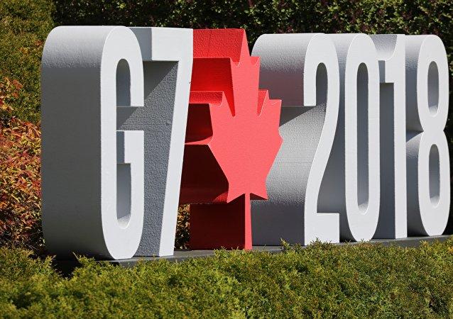 Logo de la reunión del G7 en Canadá