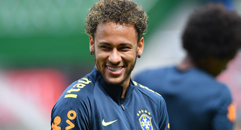 Neymar, futbolista del equipo brasileno de fútbol