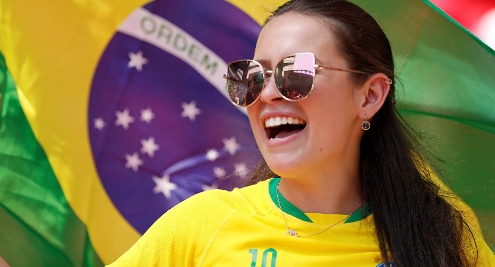 Una hincha brasileña