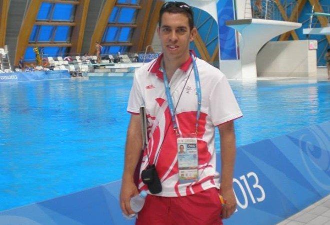 El voluntario español Sergio Cuevas Pérez
