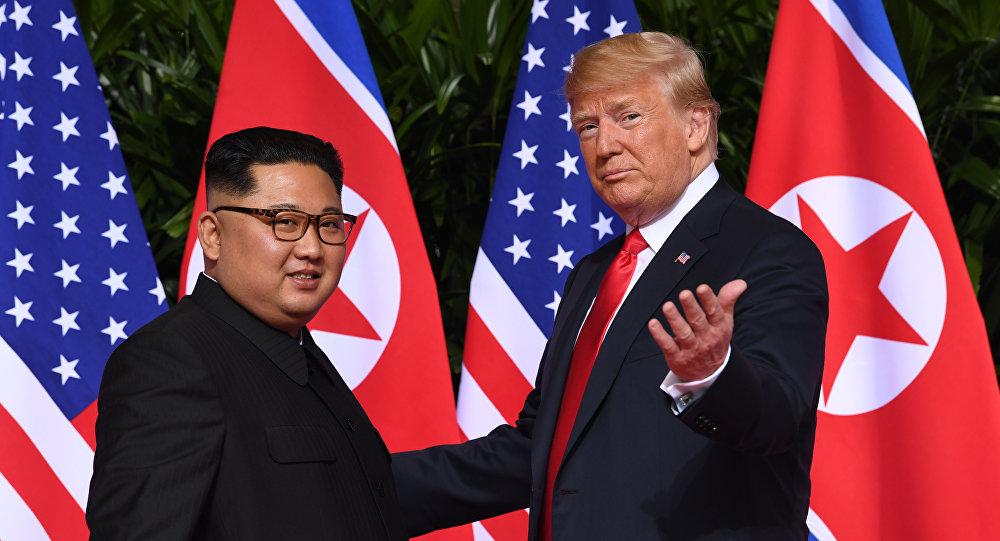El líder norcoreano Kim Jong-un y el presidente de EEUU, Donald Trump (archivo)