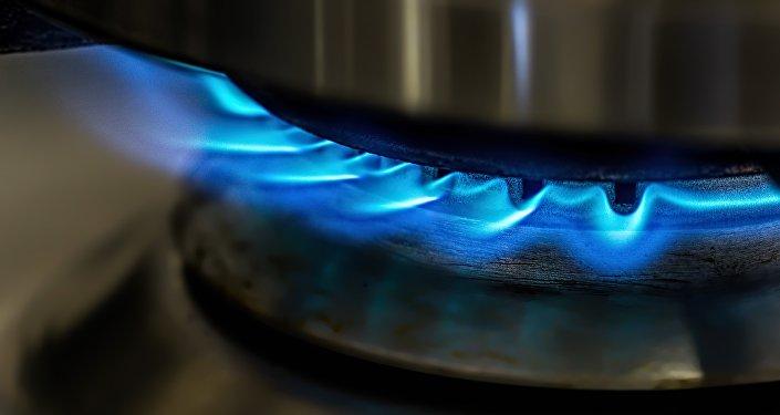 Una llamarada de gas
