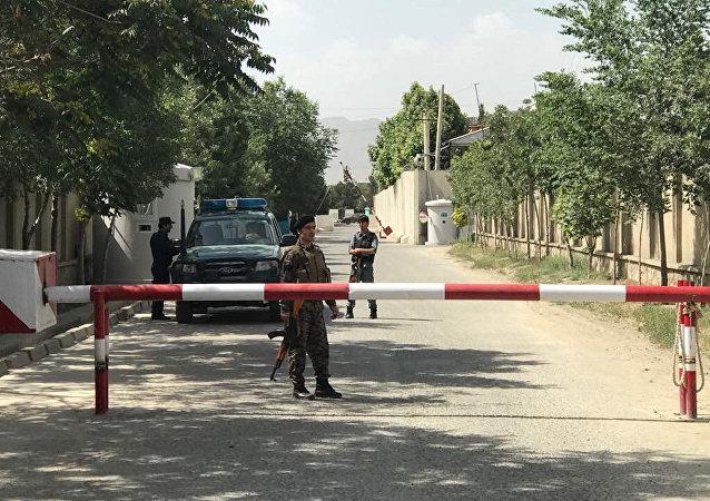 Policías afganos en Kabul, Afganistán
