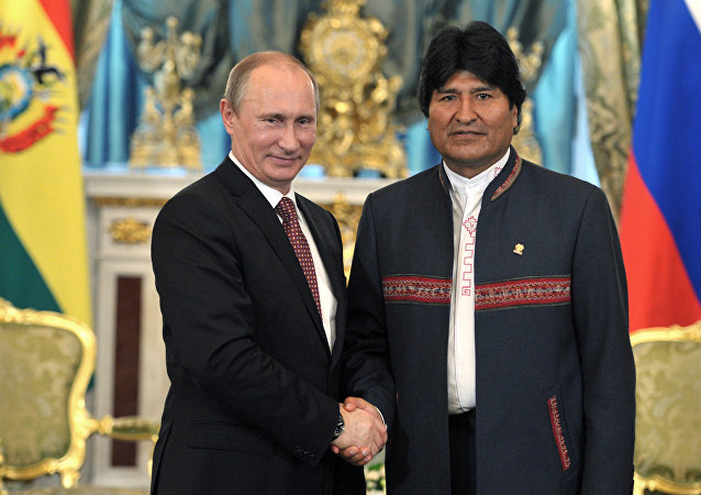 Presidente de Rusia, Vladímir Putin, y presidente de Bolivia, Evo Morales (archivo)