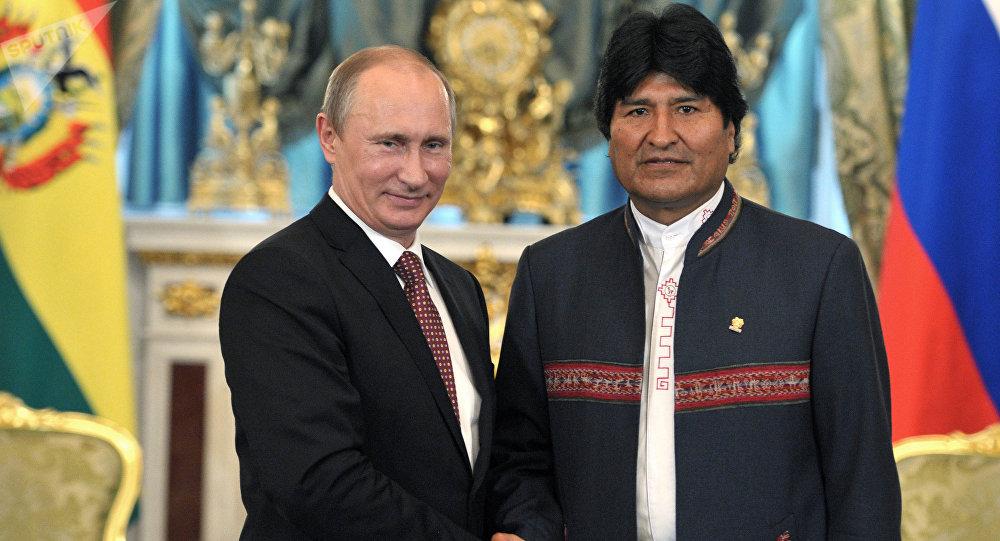 Presidente de Rusia, Vladímir Putin y presidente de Bolivia, Evo Morales (archivo)