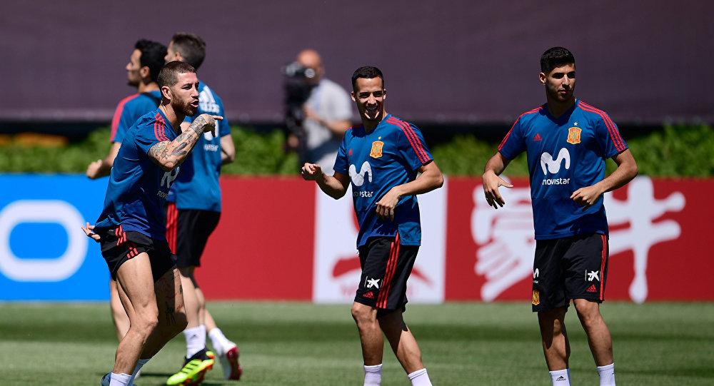 La selección española se entrena en Krasnodar