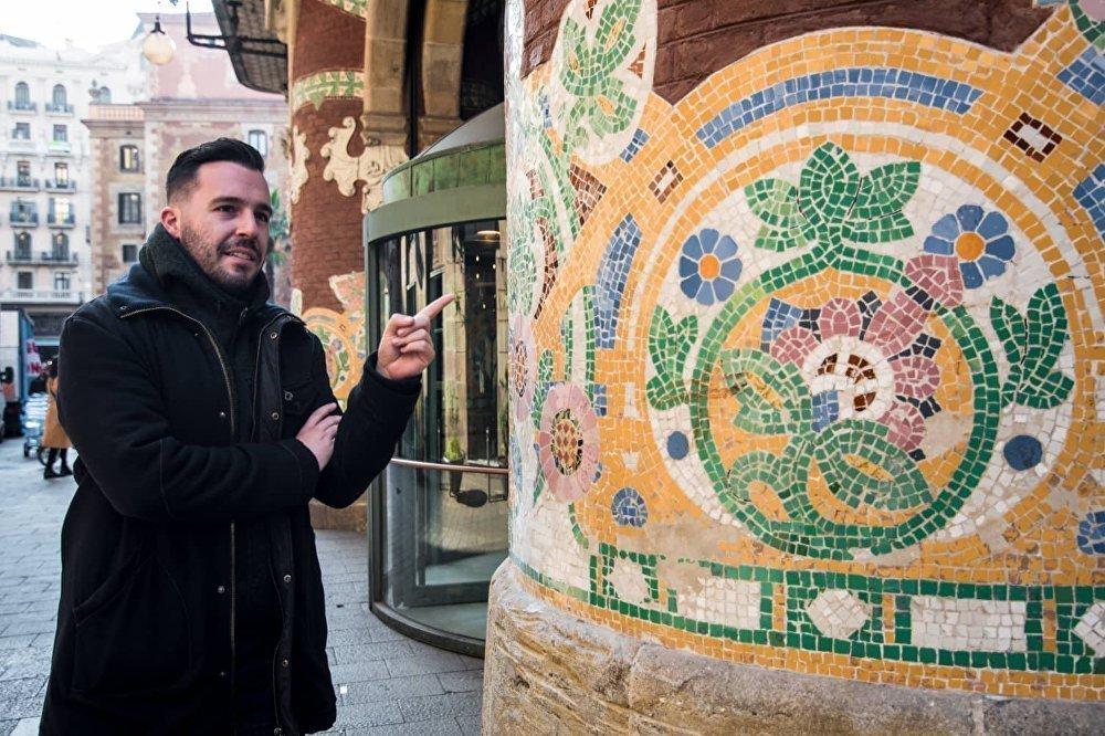 El guía de Barcelona Eteocles Nikolaou