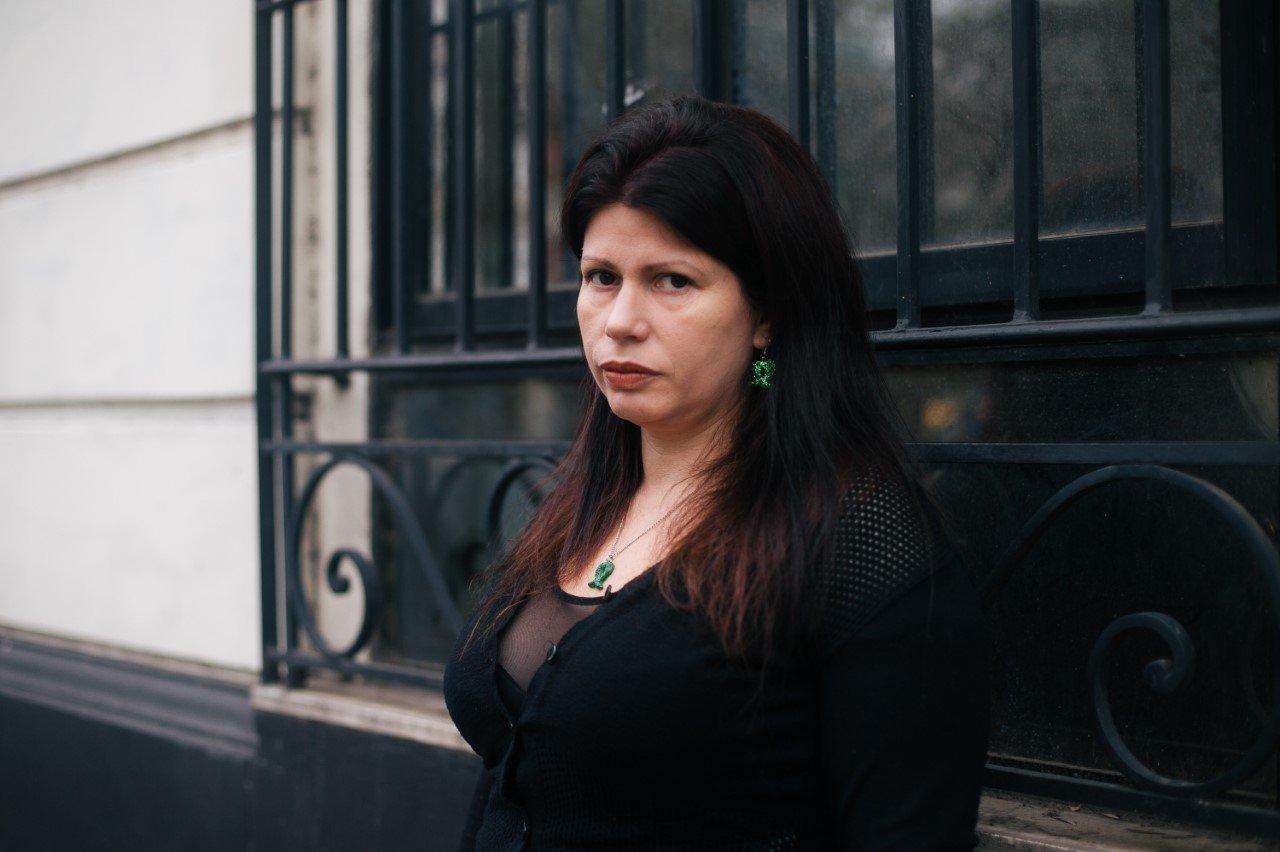 Dolores Reyes, escritora argentina a favor del aborto legal, seguro y gratuito.