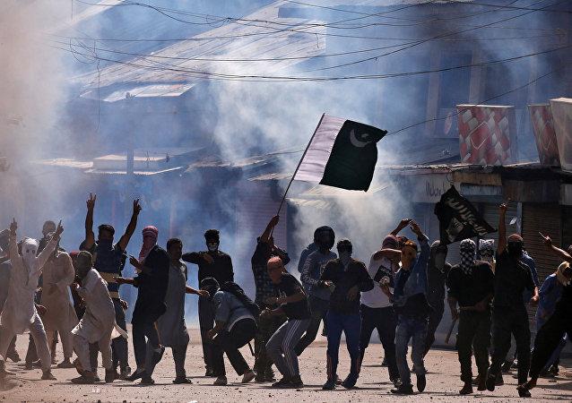 Protestas en Cachemira, la India