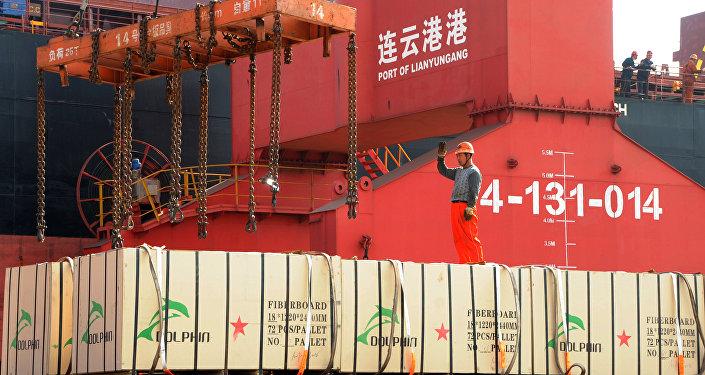 Contenedores con mercancías de China