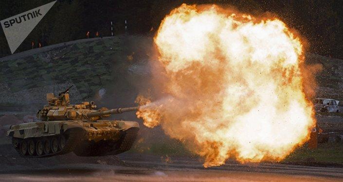 Tanque T-90A durante la feria Russia Arms Expo