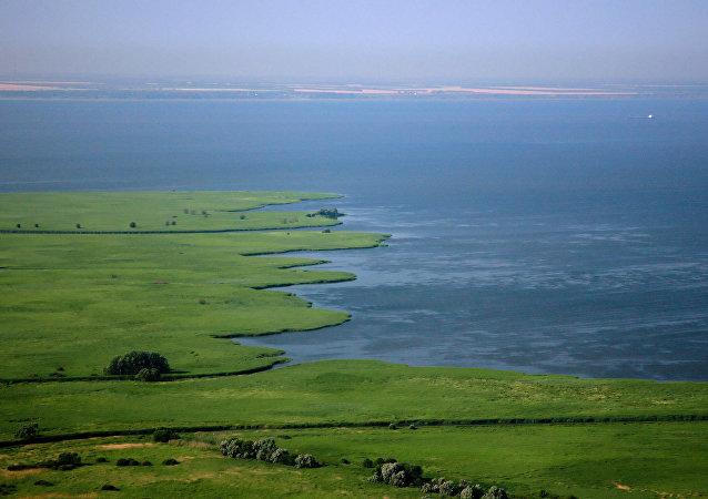 El mar de Azov, foto de archivo