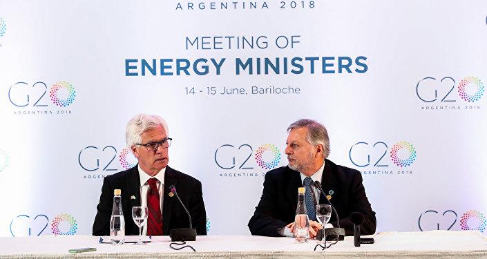 Reunión ministros de energía del G20 en Bariloche, Argentina