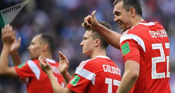 La selección rusa del fútbol en el Mundial 2018