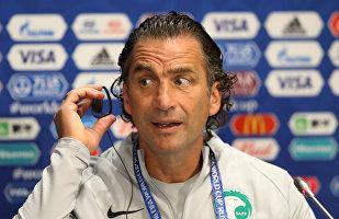 Juan Antonio Pizzi, entrenador de la selección saudí de fútbol