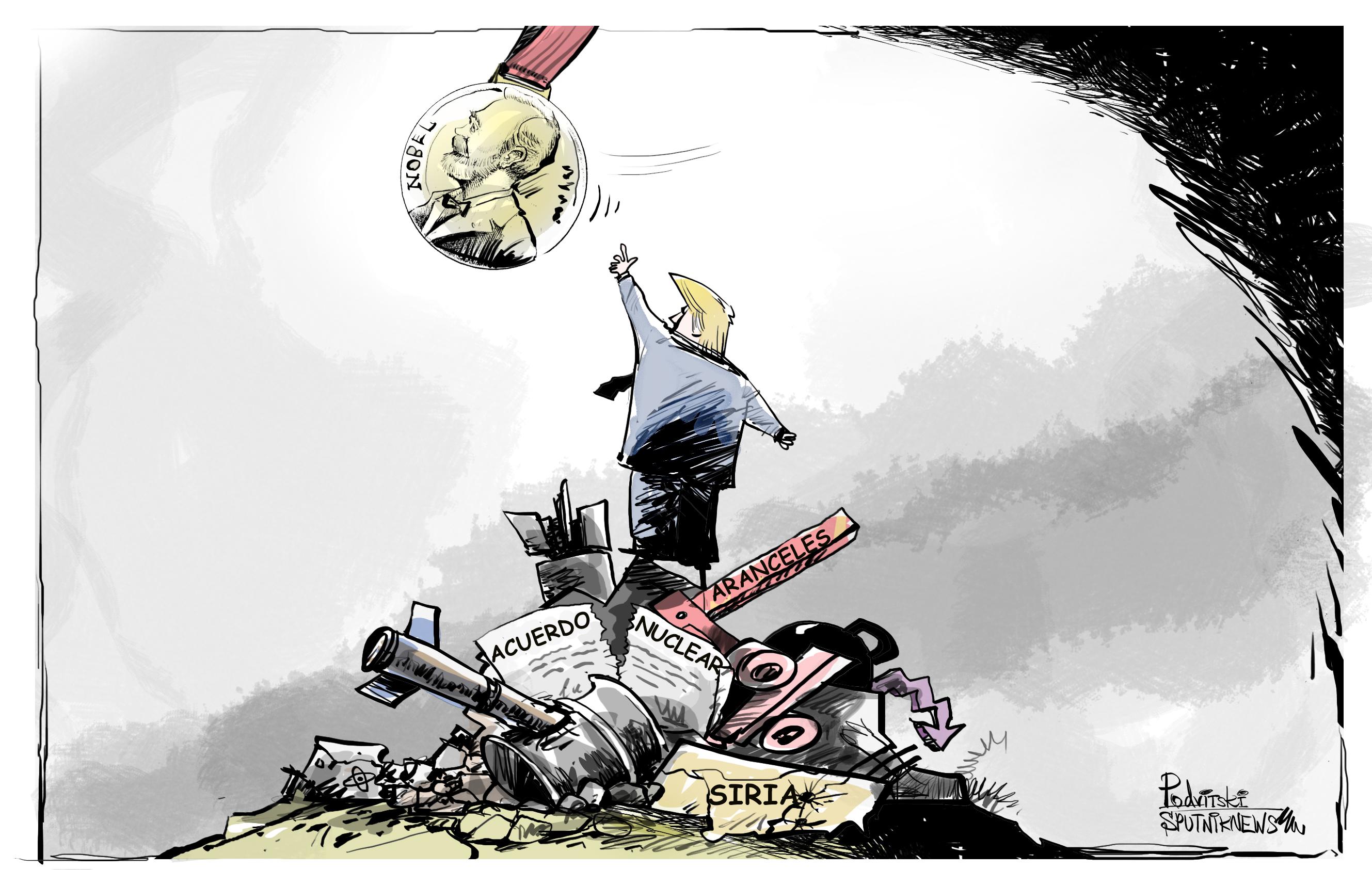 Trump, camino a recibir el Premio Nobel de la Paz más 'merecido' de la historia