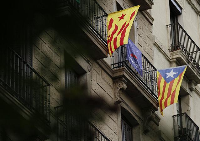 Esteladas, banderas independentistas de Cataluña