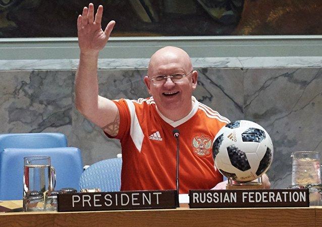 Vasili Nebenzia, representante permanente de Rusia ante la ONU