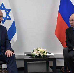 El presidente ruso Vladímir Putin y el primer ministro israelí, Benjamín Netanyahu