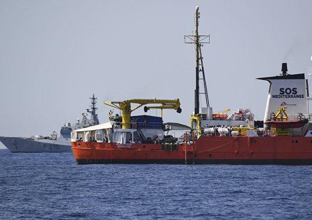 El barco de rescate Aquarius (imagen referencial)