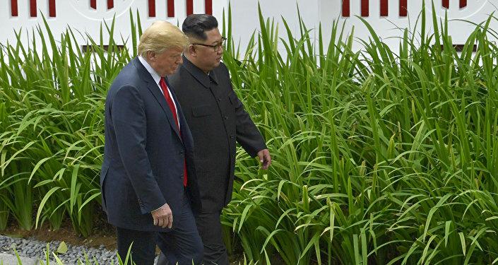El líder norcoreano Kim Jong-un y el presidente de EEUU, Donald Trump