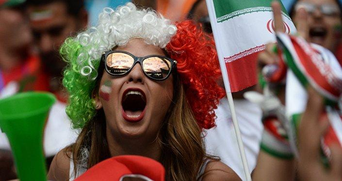 Hincha de la selección iraní