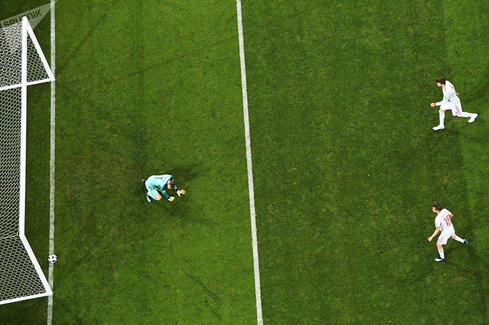 Gol de Portugal contra España