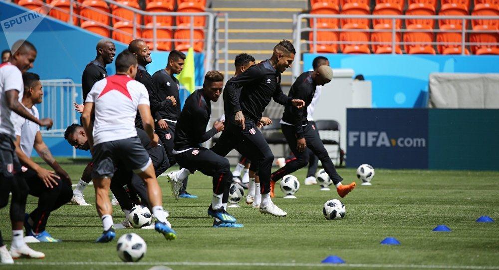 Футбол. ЧМ-2018. Тренировка сборной Перу