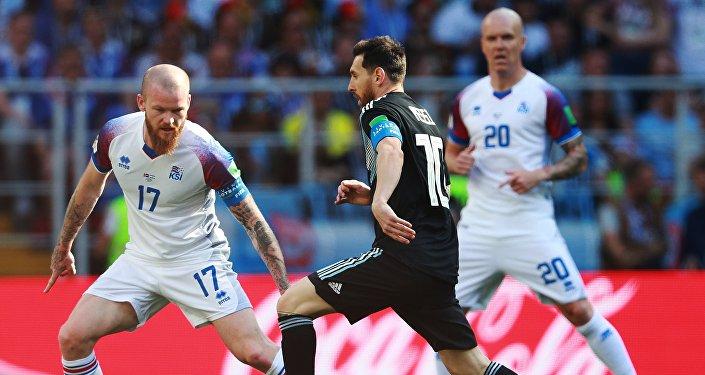 El partido entre Argentina y Islandia