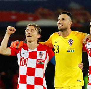 Unos miembros de la selección de Croacia