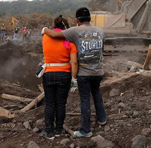 Familiares de las victimas del Volcán de Fuego