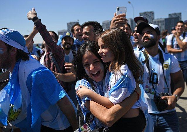 Los hinchas argentinos durante el Mundial de Rusia