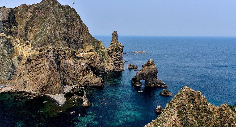 Rocas de Liancourt, islas disputadas entre Japón y Corea del Sur