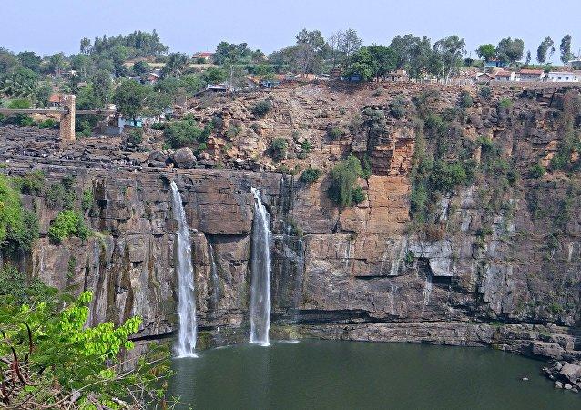 Las cascadas de Gokak, India