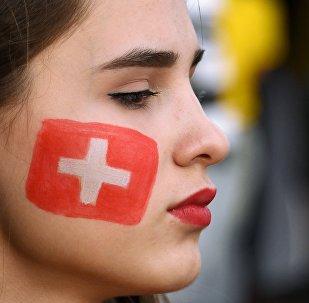 Una hincha suiza (imagen referencial)