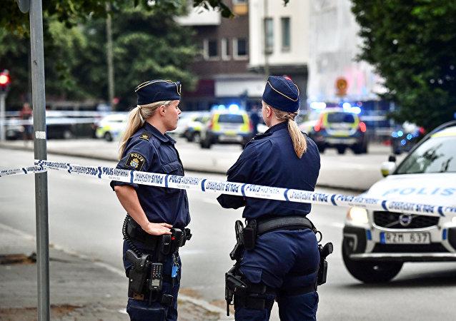 Policía de Suecia (imagen referencial)