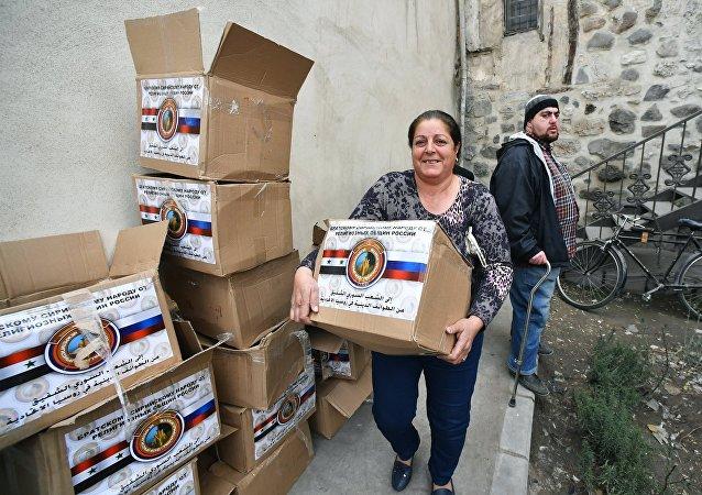 Rusia entrega ayuda humanitaria al pueblo sirio (archivo)