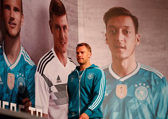 Manuel Neuer, portero de la selección alemana