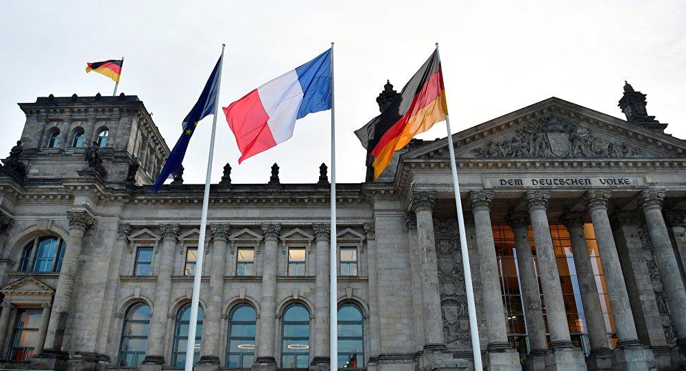 Banderas de la UE, Francia y Alemania
