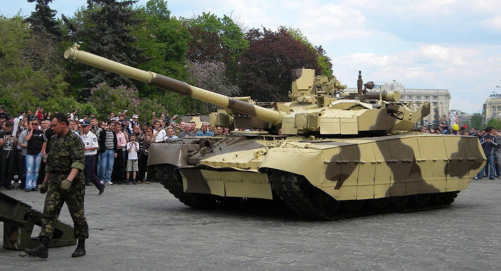 Tanque ucraniano T-84 Oplot