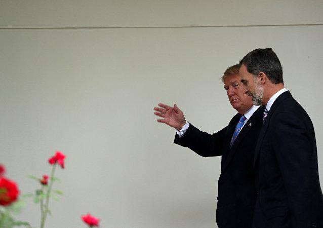 El presidente de EEUU, Donald Trump, y el Rey de España, Felipe VI