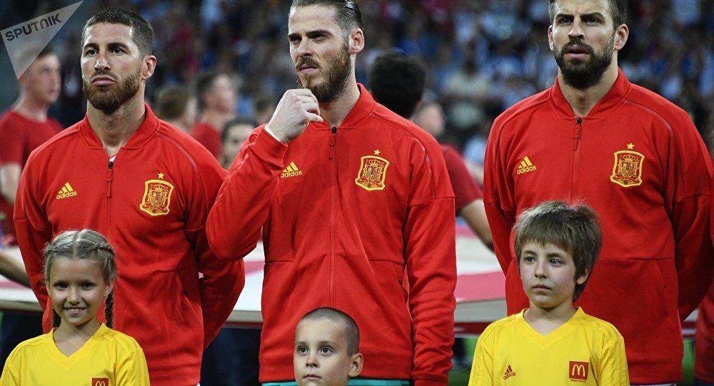 Los futbolistas de la selección española
